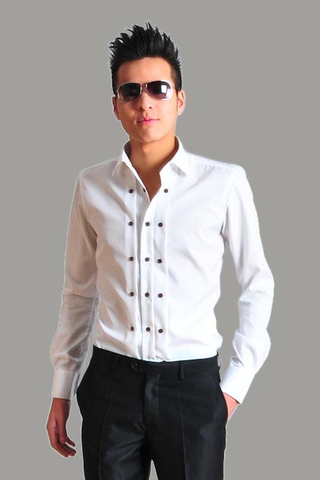 Modern tailor mt 3 buttons tuxedo shirt for Tailor dress shirt cost