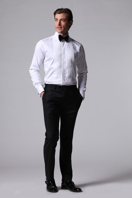 The perfect tux moderntailor custom tailored shirts for Tuxedo shirt covered placket
