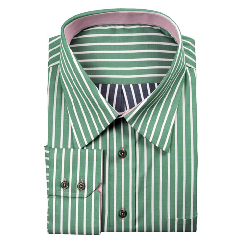 Modern Tailor T127 Green And White Stripes Dress Shirts