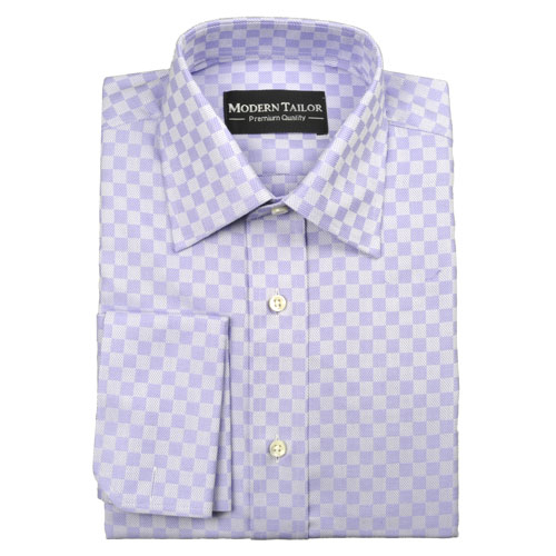 modern tailor 89935 lavender floral checks sea island