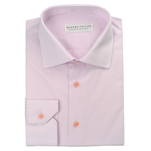 Modern Tailor - -o477 Light Pink Plain dress shirts