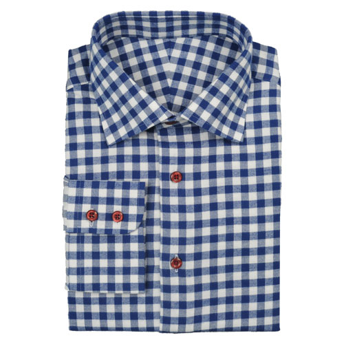 Modern Tailor | #t265 Blue Gingham dress shirts