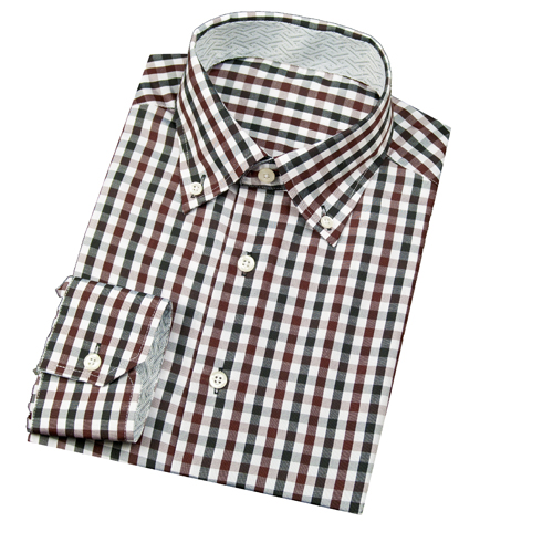 Modern Tailor | #A179-5 Brown and Black Check dress shirts