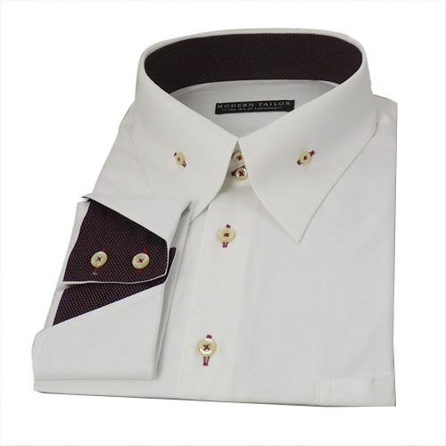 Modern tailor p115 white herringbone dress shirts for White herringbone dress shirt