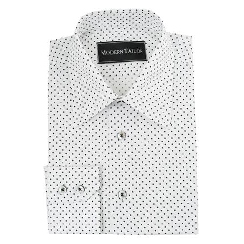 White Shirt Black Dots | Is Shirt