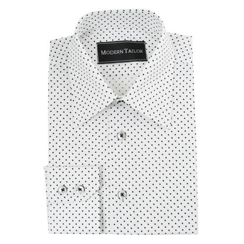 White Shirt Black Dots